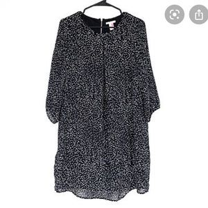 H&M Gray Dress with White Polka Dots, Size 4